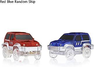 Zorbes LED Light Racing Track Car Toy, 9.5 x 5 x 5cm (Multicolour, 18147281)