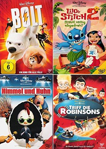 Walt Disney Collection 1 | Bolt - Ein Hund für alle Fälle + Lilo & Stitch 2 + Himmel und Huhn + Triff die Robinsons (4-DVD)