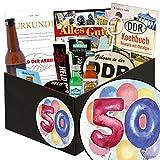 50. Geburtstag | Männergeschenk | Männerbox mit Flasche Überraschungsbier, Kondomen, Schnaps und vielem mehr