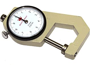 Atargoods 01pc 0.1mm Pearl & Diamond Gauge Precision Dial Thickness Gauge Scale Meter Tool Pocket 0-20mm Measurement New.