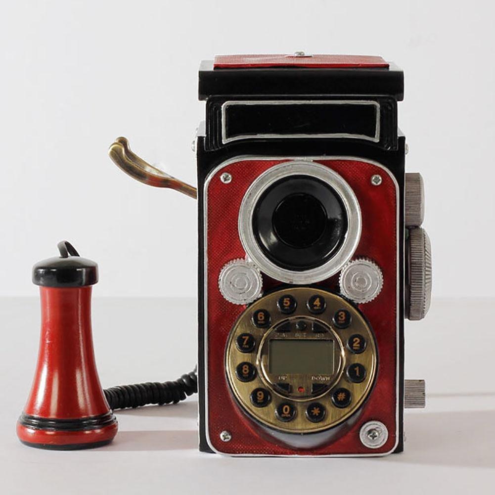 BBIAY Retr� artigianale, telefono per scrivania, stile rosso camera, camera da letto personalit�, de