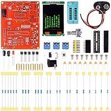 Quimat Testeur Multifonctions Transistor LCD GM328,ohmmètre / Capacimètre / Inductance Compteur / PWM Générateur de Signaux Accessoire Carrépour Bricolage QY11