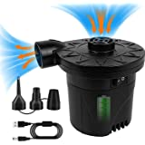 BOMPOW Electric Air Pump for Inflatables, 4000mAh Battery Air Pump Rechargeable Inflator for Inflating and Deflating Inflable