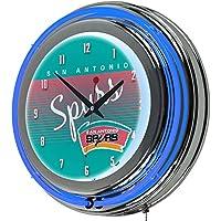 NBA San Antonio Spurs Chrome Neon Clock,
