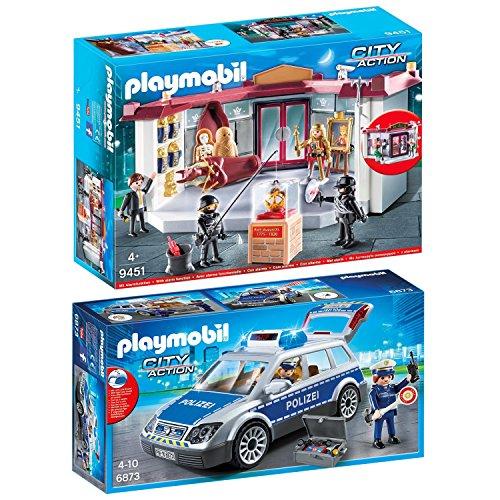 PLAYMOBIL® City Action 2er Set 6873 9451 Polizei-Einsatzwagen + Museumsüberfall