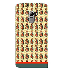 PrintDhaba Owl Pattern D-1652 Back Case Cover for LENOVO K4 NOTE A7010 (Multi-Coloured)