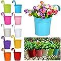 Yahee 10 Stück Hängetöpfe Blumentopf Ø 8 cm in verschiedenen Farben Übertopf von Yahee auf Du und dein Garten