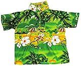 Hawaiihemd Hawaiisches Hemd Strand Jungen Madchen Green L