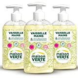 Maison Verte Vaisselle Mains 500 ml - Lot de 3...