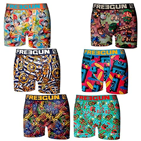 Freegun - Lot 6 Boxers - Garçon - Taille 10/12