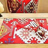 estera Estilo americano de estilo occidental de tela Mats nórdicos viento impreso lona Mats / Coasters ( Color : 11 , Tamaño : 4 Tablets )