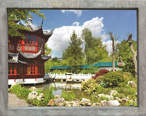 Plage Falsa Ventana Adhesiva Vistas a Un Jardín de Asia, Tela, 75x3x60 cm