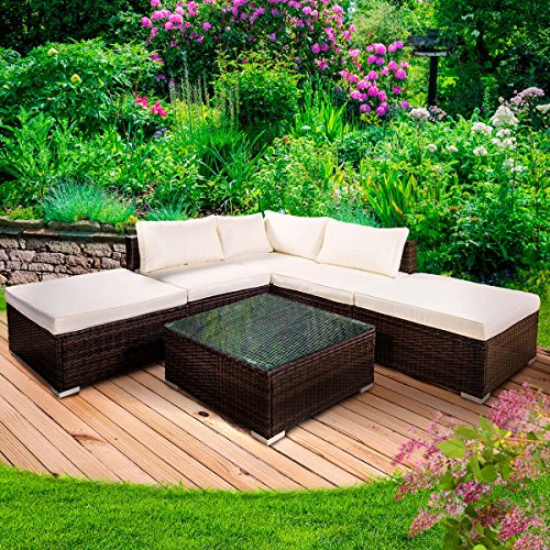 Poly Rattan Gartenmöbel Lounge Möbel Sitzgarnitur Gartengarnitur Sitzgruppe Sofa