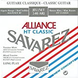 Savarez Saiten für Klassikgitarre Alliance HT Classic 540 ARJ Satz mixed Tension rot/blau (standard/high)