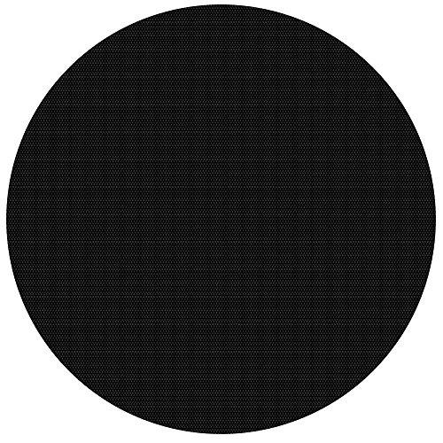 Wiltec Pool Solarfolie Rund Ø 3.6m schwarz Poolabdeckung Solarplane Poolheizung