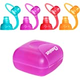 ChooMee Sipn Food Pouch Toppers 4 Colors + Purple Case Prevent Spills and Protect Childs Mouth While Promoting Feeding…