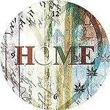 Artland Wand-Analog-Funk-Quarz-Uhr Digital-Druck auf Echt Glas mit Motiv Jule Buntes zu Hause in taktvollen Farben Statement Bilder Sprüche & Texte Digitale Kunst Bunt C8BZ