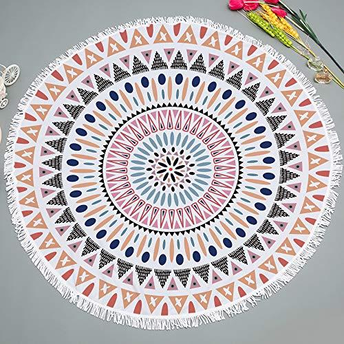 Runde Strandtuch Strand Yoga Matten Schal Schal Tapestry Chiffon Tischdecke Picknickdecke Schal,Runddruck 14 460 g 150cm Handtuch