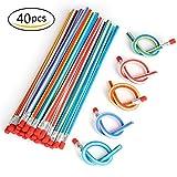 XIAOYAO 40 Soft Flexible Bendy Pencils,Crayons Rigolos pour Fête d'enfants,Cadeau pour les Anniversaire Enfants