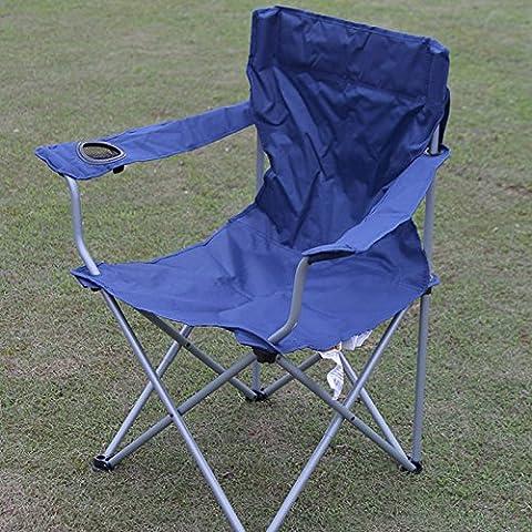 Chaise pliante chaise pliante tabouret Outdoor beach camping barbecue portable président ,un bleu marine