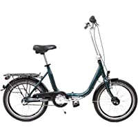 20 Zoll Klapprad Falt Fahrrad Shimano 3 Gang Schaltung Nabendynamo Folding Bike blau grün metallic