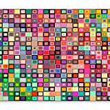 murando - Fototapete 350x256 cm - Vlies Tapete - Moderne Wanddeko - Design Tapete - Wandtapete - Wand Dekoration - Quadrate bunt geometrisch a-B-0017-a-a