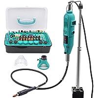 GOXAWEE Mini Meuleuse Electrique 130W Mini Perceuse Modelisme/Outil Rotatif Multi-usage - Sculpter/Découper/Polir/Ponçage/ 288 Accessoires pour Artisanat & Création de Bricolage