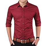 #10: Romano Men's Full Sleeve Casual Red Shirt