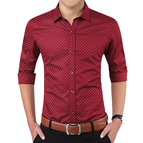 Romano-Mens-Full-Sleeve-Casual-Red-Shirt