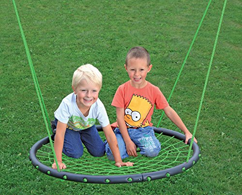 Nestschaukel Tellerschaukel 100 cm Durchmesser TÜV/GS mit SAFETY IMPACT grün