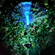 Outdoor Solar Powered LED Color Changing Fiber Optic Night Light Lawn Lamp for Pathway Garden Yard Patio Festival Christmas Decoration
