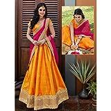 Shree Ganesh Design Women's Attractative Semi-Stitched Lahenga - [ SL 1008 [SGD_N] ]