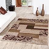 Tappeto economico Patchwork Design moderno soggiorno tappeto beige crema, Polipropilene, 160 x 220 cm