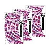 """JOllify Felgenrandaufkleber Laufrad LRS Satz Camouflage """"The Invisible Man"""" für Dein Fahrrad, MTB Sticker. PINK"""