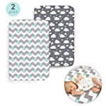 MOGOI Fitted Crib Sheets, Premium Stretchy Mattress Cover Set 2 Pack Fits Standard Baby Or Toddler Bed Mattress Soft...