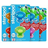 Steripod Clip-on Toothbrush Sanitizer (8 Steripods) 2x2 Pack (Green/Blue) & 2x2 (Yellow/Pink)
