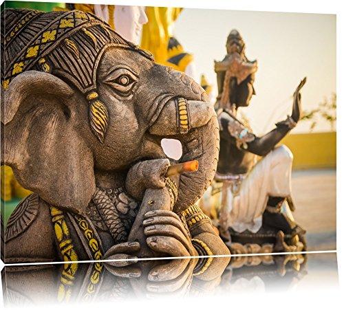 Elefantengottheit in Thailand Format: 80x60 auf Leinwand, XXL riesige Bilder fertig gerahmt mit Keilrahmen, Kunstdruck auf Wandbild mit Rahmen, günstiger als Gemälde oder Ölbild, kein Poster oder Plakat