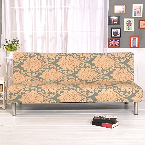 Gedruckt All-inclusive-Stretch-Klappsofa Sofa Cover Protector Schonbezug ohne Armlehnen