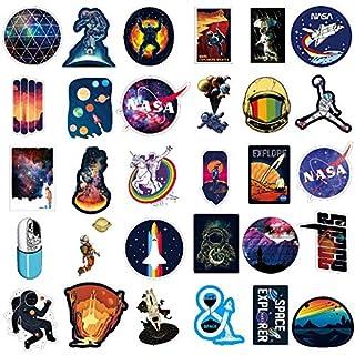 NASA Aufkleber für Laptop [100 STÜCKE], Platz Forscher Galaxis Vinyl Aufkleber für Wasserflasche MacBook Auto Fahrrad Stoßstange Skateboard, Raumfahrer Raumschiff Universum Planet Graffiti Aufkleber