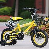 Kinder Fahrrad Junge Kinderwagen Mädchen Kinderwagen Kinder Mountainbike (mit Wasserkocher Version) ( Color : Yellow , Size : 16 in )