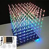 Diy Wifi App 8X8X8 3D Light Cube Kit Rot Blau Grün Led Mp3 Musikspektrum Electronic Kit Kein Gehäuse LaDicha