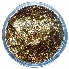 Amscan – Colori per Viso e Corpo, Gel con Glitter, 12 ml, Colore: Oro Rosso