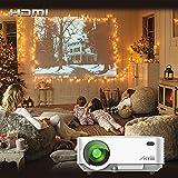 Proyectores, Artlii Mini Proyector Portatil HD 1080p 1500Lúmenes Protección de Los Ojos Vídeo Proyector LED,Proyector de Cine en Casa para TV/Videojuego/Fotos/Karaoke/Película