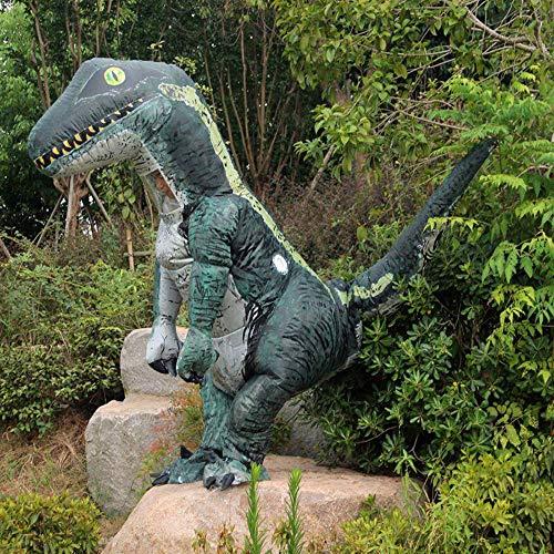 Edelehu Raptor Performance Kostüm Halloween Aufblasbare Kleid Dinosaurier Cosplay Kostüm Lustige Aufblasbare Geeignet Für Clubs Geburtstagsfeiern Schnelle Inflation Erwachsene Größe