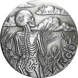 Virgo Memento Mori Zodiac Skull Horoscope Silver Coin 2015