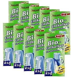 COM-FOUR® 250g Orofix Anticalcare biologico, confezione risparmio per macchine da caffè e bollitori elettrici–con acido citrico (10x da 25g)