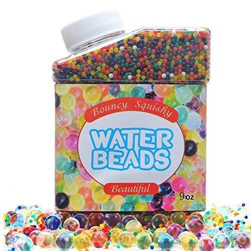 Simuer Wasser Perlen, Wassergel Wasser Kugeln Gel Bälle kristallwassergels (50000 Stücke) Water Beads Crystal Gel Jelly Spielzeug für Vasen Pflanzen Hochzeit und Heimtextilien 300ml/280g (Crystal-vase)