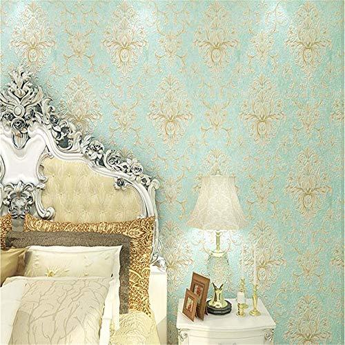 Wandsticker Wandtattoo Wanddekoration3D Wallpaper Geprägte Textur Glitter Barock Damast Featured...