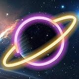XIYUNTE LED Planet Neonlicht Planet Neon Signs LED Planet Licht Planet Neon Schild, Batterie oder USB betrieben Planet Neon L