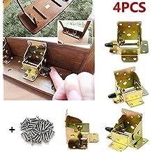 topdirect 4pcs 75* 62* 55mm plegable Lock extensión mesa cama pierna pies plegable soporte tornillo